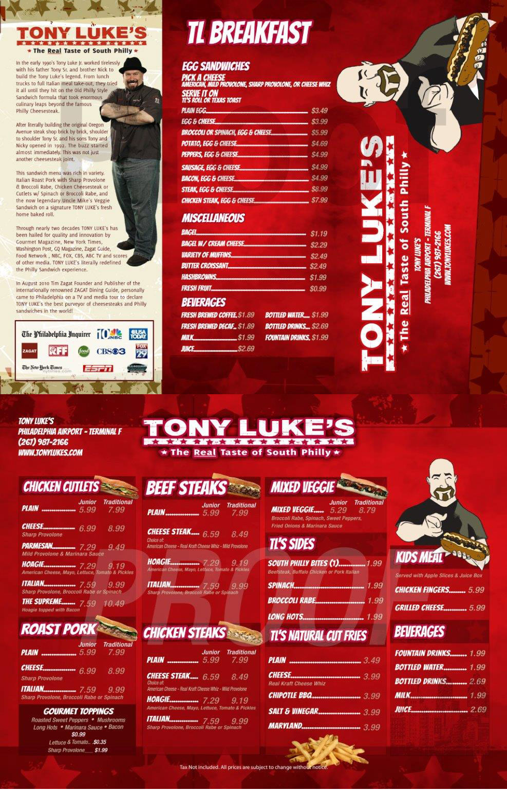 Tony Luke's at Philadelphia International Airport Terminal F
