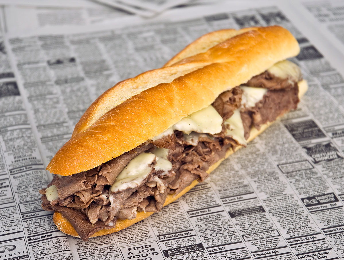 making philly cheesesteaks at home